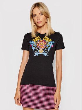 Versace Jeans Couture Versace Jeans Couture T-Shirt Transfer 71HAHT17 Czarny Slim Fit