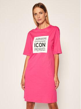 Armani Exchange Armani Exchange Každodenné šaty 8NYACX YJG3Z 1485 Ružová Regular Fit