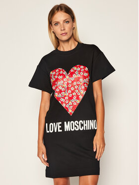 LOVE MOSCHINO LOVE MOSCHINO Kötött ruha W5B1104M 4055 Fekete Regular Fit