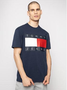 Tommy Jeans Tommy Jeans T-Shirt Flag Logo DM0DM07009 Dunkelblau Regular Fit