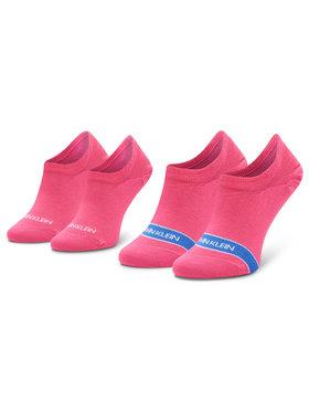 Calvin Klein Calvin Klein Σετ 2 ζευγάρια κάλτσες σοσόνια γυναικεία 100001898 Ροζ