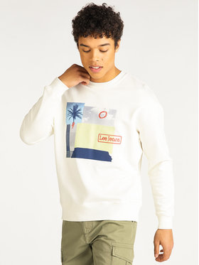 Lee Lee Суитшърт Seasonal Graphic L80GSPNQ Бежов Regular Fit