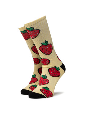HUF HUF Unisex Magasszárú Zokni Strawberry Sock SK0046 r.OS Sárga