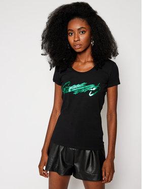 Guess Guess Marškinėliai Latisha Tee W0BI84 J1311 Juoda Slim Fit