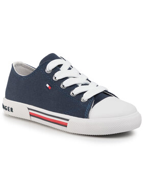 Tommy Hilfiger Tommy Hilfiger Sportbačiai Low Cut Lace-Up Sneaker T3X4-30692-0890 M Tamsiai mėlyna