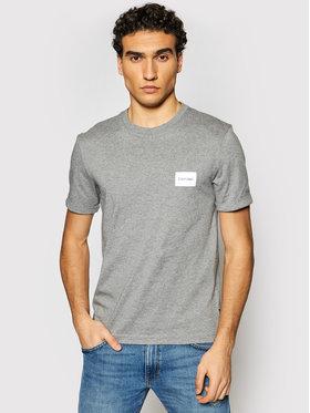 Calvin Klein Calvin Klein T-Shirt Turn-Up Logo K10K107281 Šedá Regular Fit