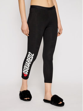 Dsquared2 Underwear Dsquared2 Underwear Legginsy D8N473480 Czarny Slim Fit