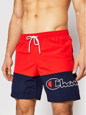 Champion Champion Plavecké šortky Colour Block 214431 Červená Board Fit