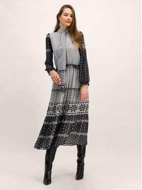 My Twin My Twin Sukienka codzienna 192MT2390 Szary Regular Fit