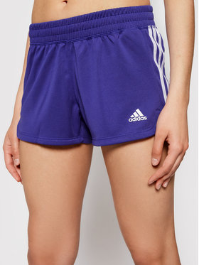 adidas adidas Športové kraťasy Pacer 3-Stripes GM2955 Fialová Regular Fit