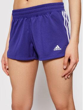 adidas adidas Sportovní kraťasy Pacer 3-Stripes GM2955 Fialová Regular Fit