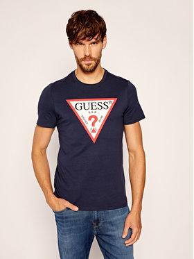 Guess Guess T-Shirt Cn Ss Original Logo Tee M0YI71 I3Z11 Granatowy Slim Fit