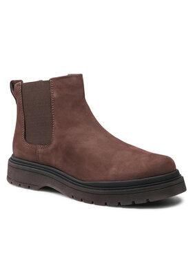 Badura Badura Kotníková obuv s elastickým prvkem MI08-C877-876-05 Hnědá