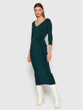 TWINSET TWINSET Džemper haljina 212TT3090 Zelena Slim Fit