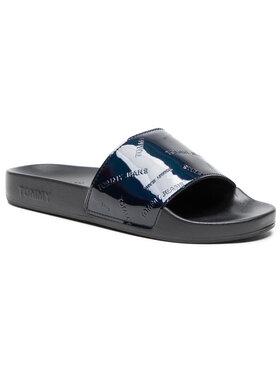 Tommy Jeans Tommy Jeans Klapki Iridescent Pool Slide EN0EN01379 Czarny