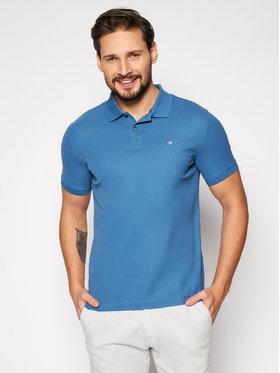 Calvin Klein Calvin Klein Pólóing Refined Pique Logo K10K102758 Kék Slim Fit