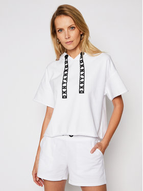 DKNY Sport DKNY Sport Суитшърт DP0T7171 Бял Boxy Fit