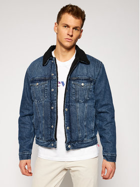 Calvin Klein Jeans Calvin Klein Jeans Kurtka jeansowa J30J316195 Granatowy Regular Fit