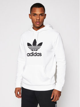 adidas adidas Sweatshirt Trefoil DU7780 Weiß Regular Fit