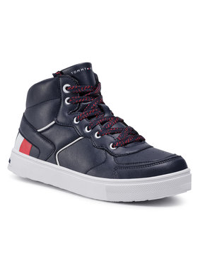 Tommy Hilfiger Tommy Hilfiger Sneakersy High Top Lace-Up Sneaker T3B4-30926-1030800 S Granatowy