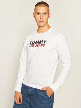 Tommy Jeans Tommy Jeans Halat Corp Logo Tee DM0DM09487 Alb Regular Fit