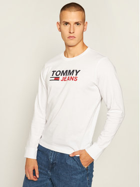 Tommy Jeans Tommy Jeans Manches longues Corp Logo Tee DM0DM09487 Blanc Regular Fit