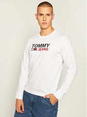 Tommy Jeans Tommy Jeans Тениска с дълъг ръкав Corp Logo Tee DM0DM09487 Бял Regular Fit