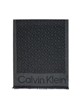Calvin Klein Calvin Klein Πασμίνα Monogram Jacquard Scard K50K507438 Μαύρο