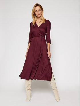 Calvin Klein Calvin Klein Ежедневна рокля Twill Wrap K20K202392 Виолетов Regular Fit