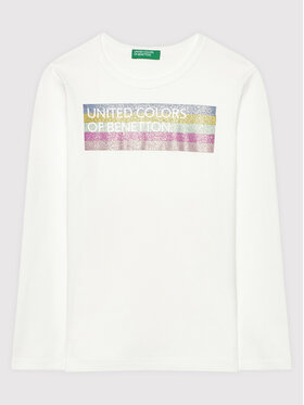 United Colors Of Benetton United Colors Of Benetton Bluse 3I9WC15BM Weiß Regular Fit