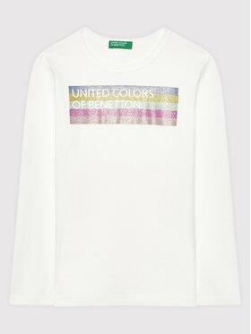 United Colors Of Benetton United Colors Of Benetton Bluză 3I9WC15BM Alb Regular Fit