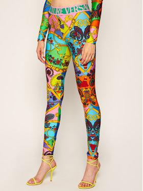 Versace Jeans Couture Versace Jeans Couture Legginsy D5HZA161 Kolorowy Slim Fit