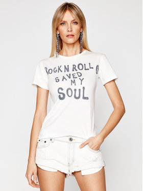 One Teaspoon One Teaspoon T-shirt Rock & Roll 23904 Blanc Fitted Fit
