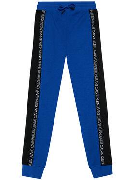 Calvin Klein Jeans Calvin Klein Jeans Spodnie dresowe Colour Block IB0IB00866 Niebieski Regular Fit