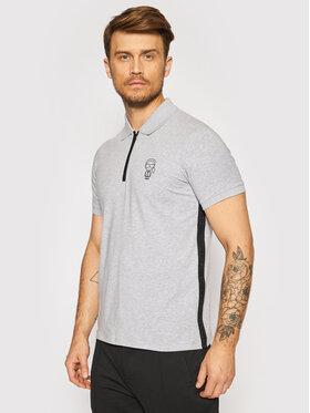 KARL LAGERFELD KARL LAGERFELD Тениска с яка и копчета 745020 511221 Сив Regular Fit