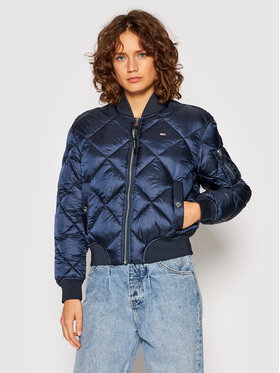 Tommy Jeans Tommy Jeans Bomber striukė Diamond Quilted DW0DW10385 Tamsiai mėlyna Regular Fit