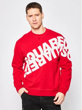 Dsquared2 Dsquared2 Felpa Mirrored Logo Crewneck Sweatshirt S74GU0403.S25042 Rosso Regular Fit