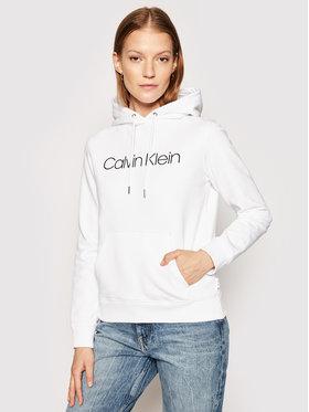 Calvin Klein Calvin Klein Majica dugih rukava Core Logo K20K202687 Bijela Regular Fit