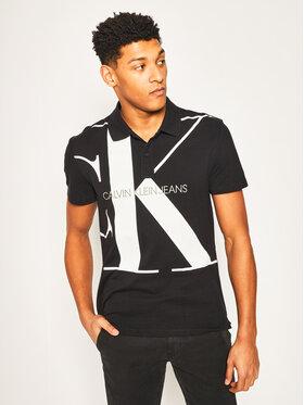 Calvin Klein Jeans Calvin Klein Jeans Тениска с яка и копчета Upscale Monogram J30J315358 Черен Regular Fit