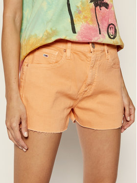 Tommy Jeans Tommy Jeans Džinsiniai šortai Denim Hotpants Mlnc DW0DW08236 Oranžinė Regular Fit