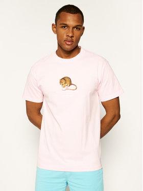 HUF HUF T-Shirt Rat Race TS01016 Różowy Regular Fit