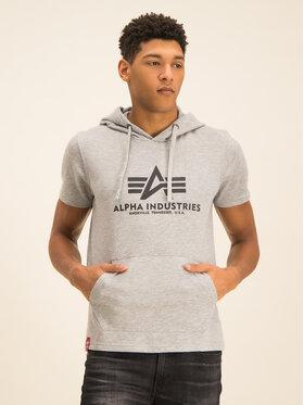 Alpha Industries Alpha Industries Sweatshirt Basic T Hooded 126507 Grau Regular Fit