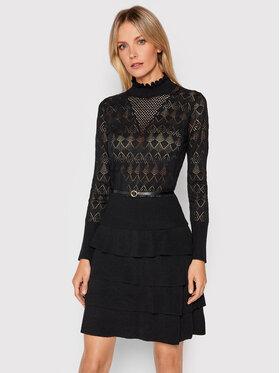 Fracomina Fracomina Плетена рокля F321WD5008K47701 Черен Regular Fit
