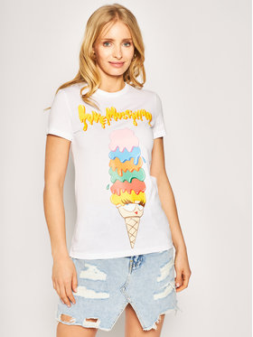 LOVE MOSCHINO LOVE MOSCHINO T-shirt W4F7366M 3876 Blanc Slim Fit