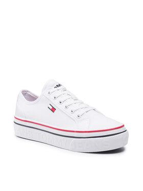 Tommy Jeans Tommy Jeans Tenisówki Flatform Vulc EN0EN01423 Biały