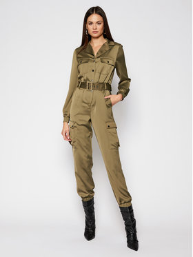 Guess Guess Salopetă Venus W0BD0A WDEL0 Verde Relaxed Fit