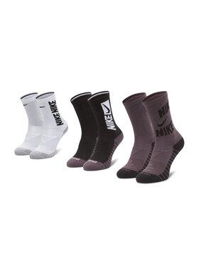 NIKE NIKE 2 pár hosszú szárú unisex zokni CW0084 Fekete