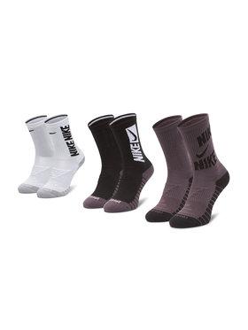 NIKE NIKE Σετ 2 ζευγάρια ψηλές κάλτσες unisex CW0084 Μαύρο