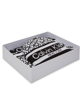 Calvin Klein Calvin Klein Sada čepice a šál Beanie + Scarf J 30X180 K60K607276 Bílá