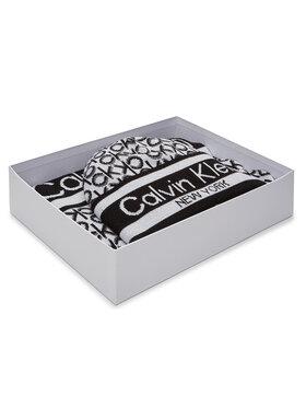 Calvin Klein Calvin Klein Σετ Κασκόλ και Σκούφος Beanie + Scarf J 30X180 K60K607276 Λευκό